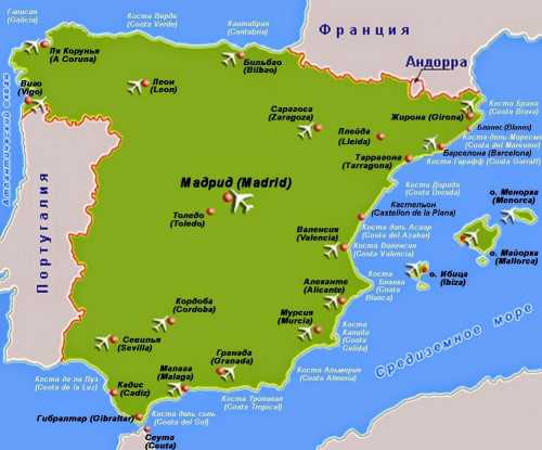 Границы Испании