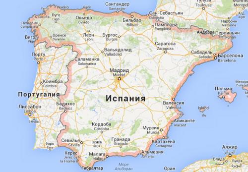 Территория Испании