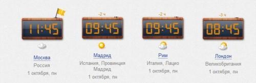 Время Испания Москва